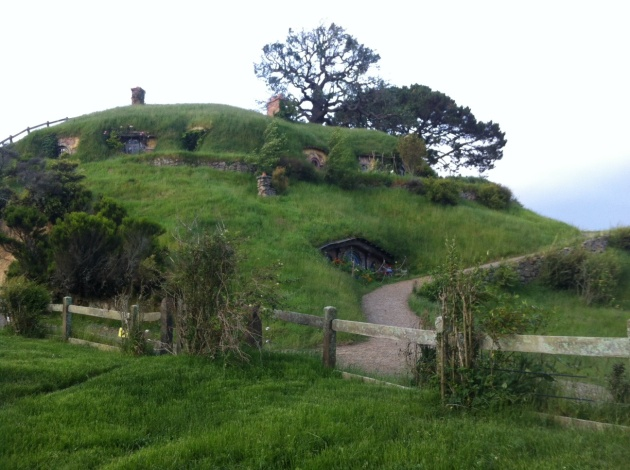 Hobbit houses in the mountain