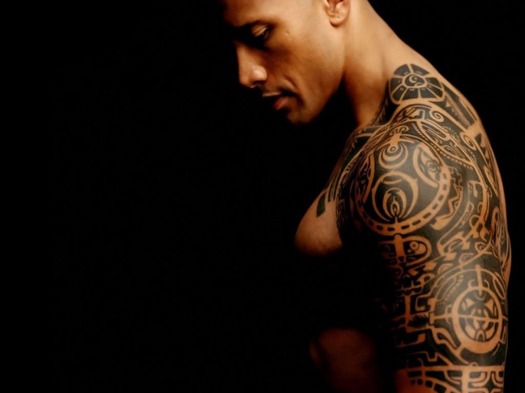 Dwayne Johnson Tribal Tattoo Arm The Rock Wallpaper