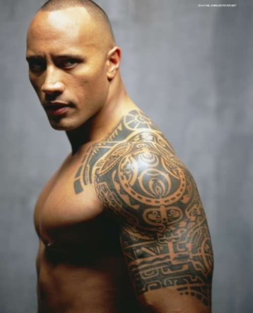 Dwayne-Johnsons-Maori-style-warrior-tattoo1